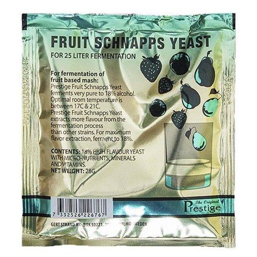 Спиртовые дрожжи Prestige Fruit Schnapps